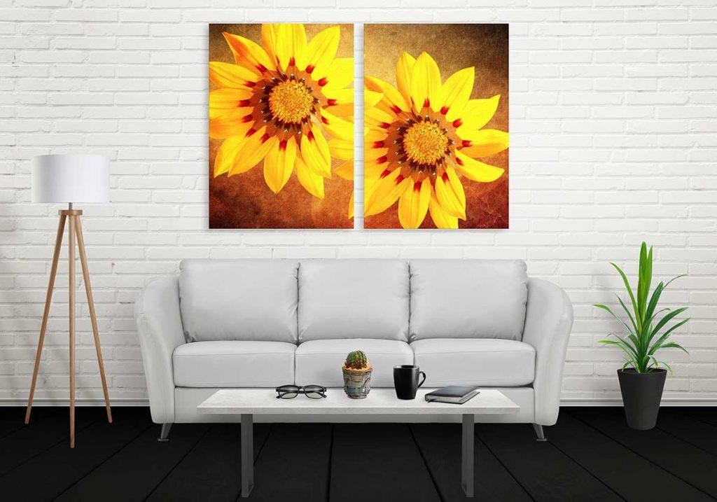 Großformatdruck Bild im Wohnzimmer
